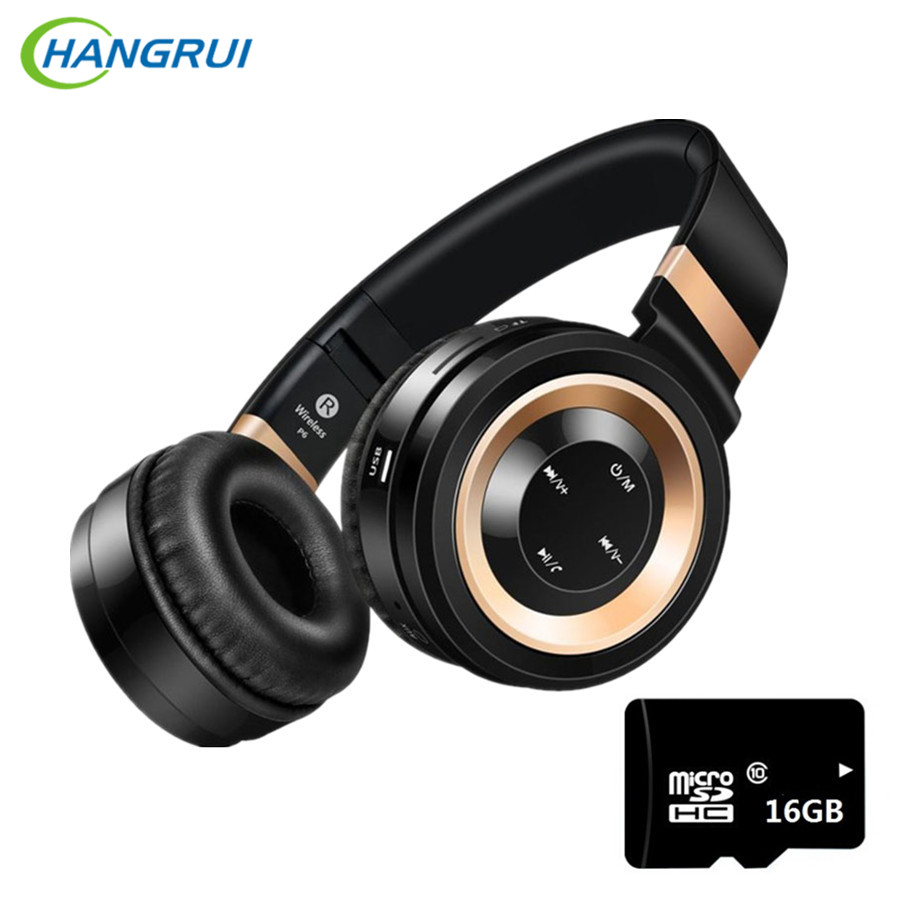 P6 Gaming Headset with mic music earbuds Wireless Bluetooth Headphone for Computer Smartphone Blutooth Earphone support TF Card each g8200 gaming headphone 7 1 surround usb vibration game headset headband earphone with mic led light for fone pc gamer ps4