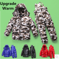 Russian winter suits for girls thick warm kids boys ski suits snow jacket + Overall pants 2 pcs set -30 degree 3-8 years old