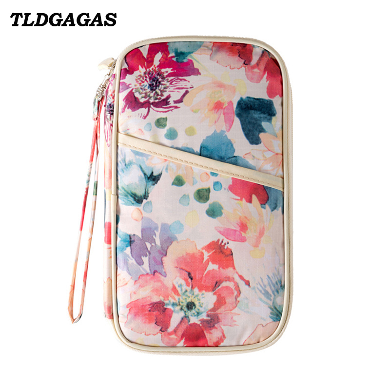 TLDGAGAS  2018 Fashion Printing Floral Unisex Passport Cover Travel Purse Document Holder Organizer Cash Holder Card WalletsTLDGAGAS  2018 Fashion Printing Floral Unisex Passport Cover Travel Purse Document Holder Organizer Cash Holder Card Wallets