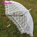 Frete grátis White Wedding Lace Umbrella