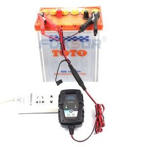 Image 5 - FOXSUR 6 V 12 V 1A אוטומטי חכם סוללה מטען מתחזק עבור מכונית אופנוע קטנוע סוללה מטען עם SAE מהיר מחבר