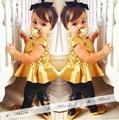 NOVAS Chegadas Meninas Crianças Crianças Princesa Vestido Tutu + Calças Compridas Conjunto de Roupas Ternos S1130