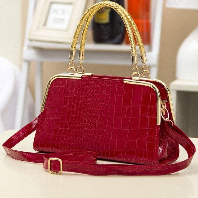 Новые прибытия женщины кожаная сумочка женская мода сумка камень шаблон плеча сумки Невеста тотализатор Европа стиль женщин сумки посыльного