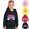 Trolls 2-8Yeas meninas roupas menino hoodies crianças jumper de papoula camisola menina para crianças mangas compridas moda impressão MS1790