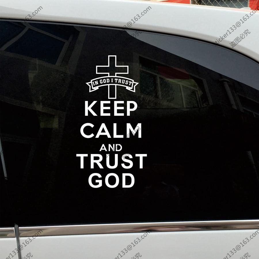 Christian cross in heart, christian decal, christian sticker.