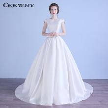 CEEWHY Cap Sleeve Open Back Wedding Dress Vestido de Casamento Noiva Princesa Gelinlik Matrimonio gown