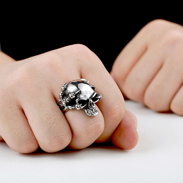 STAINLESS STEEL SKULL CLAWS RINGS