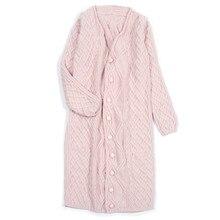 100% cashmere long cardigan sweater overcoat