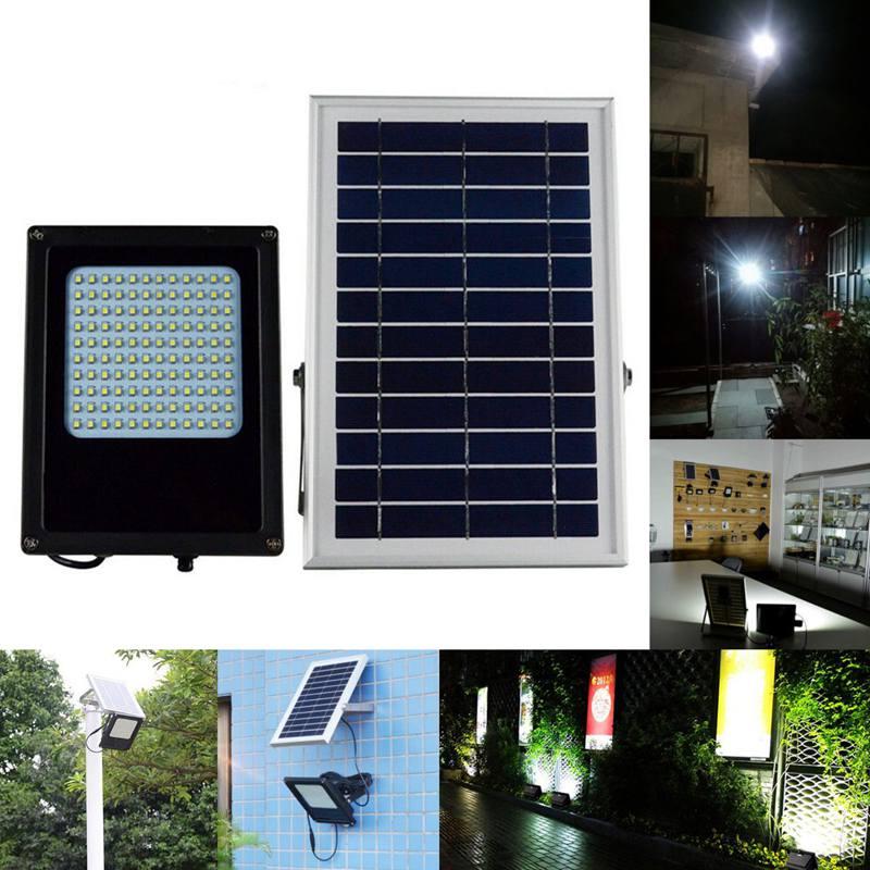 120 LED 3528 SMD Solar Powered Panel Floodlight Body Solar Light Sensor Outdoor Garden Landscape Spotlights Lamp 15W