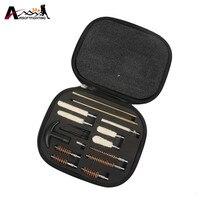 16Pcs Set Pistol Shotgun Cleaning Kit For All Caliber Hand Guns 22 357 38 9mm 40