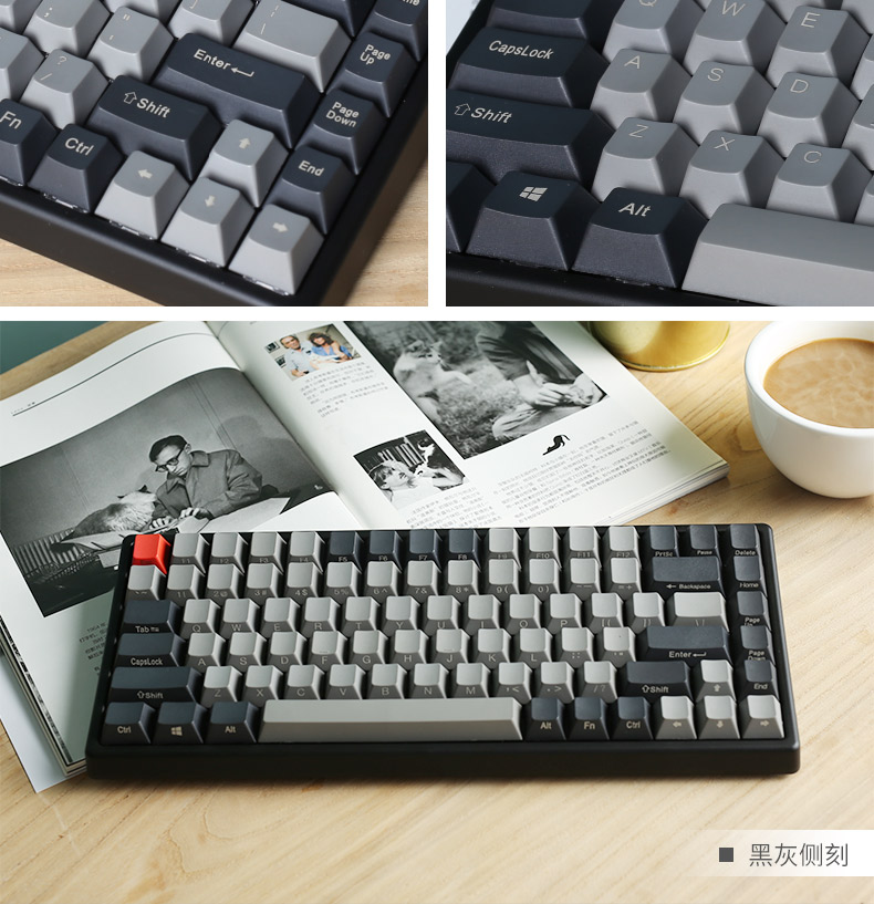 Keycool 84 mini mechanical keyboard cherry mx switch brown PBT keycap mini84 compact game keyboard detachable cable