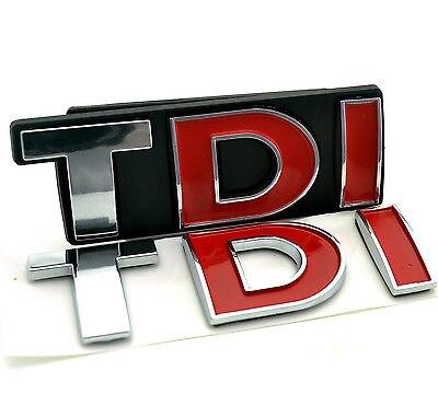 2шт ТДИ спереди автомобиля задний эмблема для Гольф Сирокко Туарег ТДИ Гриль загрузки эмблема стайлинга автомобилей