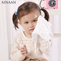 AINAAN Baby Burp Cloths 6 layers Cotton Bandana Bibs Toddler Triangle Scarf  For Newborn Face Clearn 3PCS/Lot