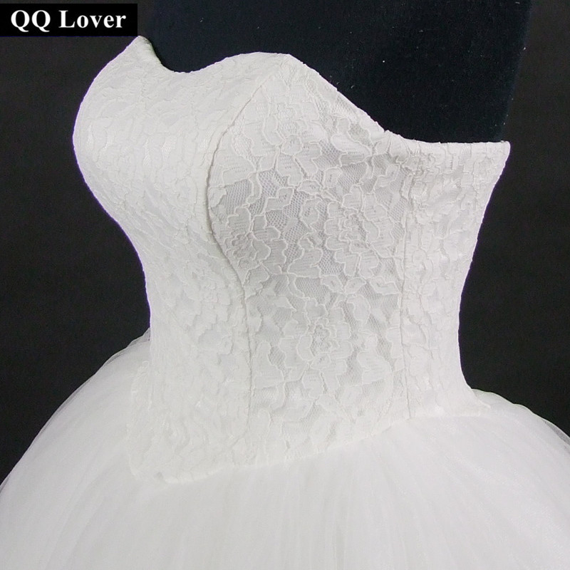 QQ Lover 2019 New Ball Gown Lace Wedding Dress Custom-Made Wedding Gown