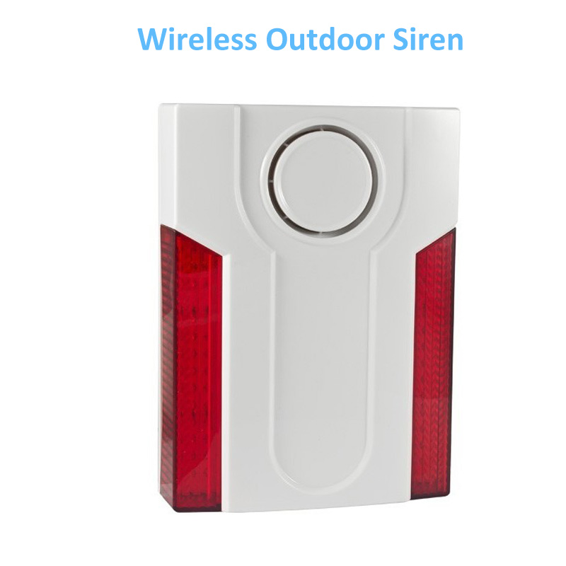 Focus Wireless Double Flashing Light Outdoor External Alarm Siren MD-334R 110db