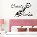Quote And Lip Vinyl Wall Sticker Beauty Salon Shop Wall Decor Removable Art Decals Home Decor