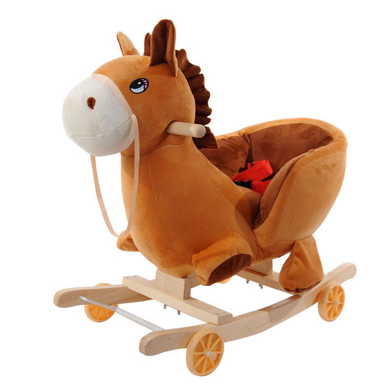 New Electric Animals To Ride Childrens Wooden Horse Rocking Chair