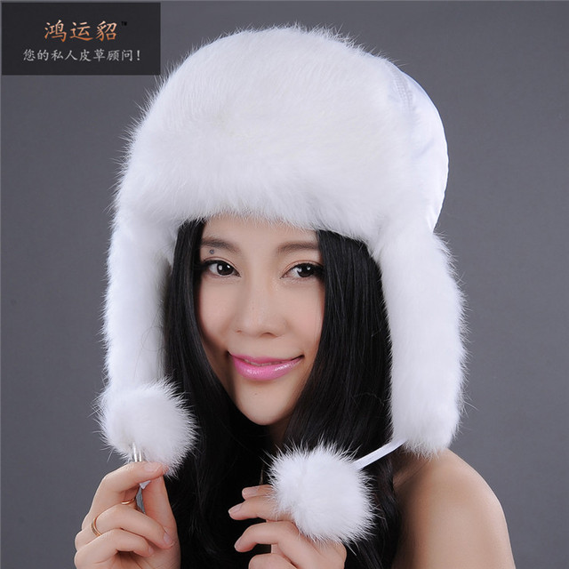 Winter 2016 Russian Style plus size warm thermal Genuine fox fur Bomber hat for woman Real fur Cap wholesale