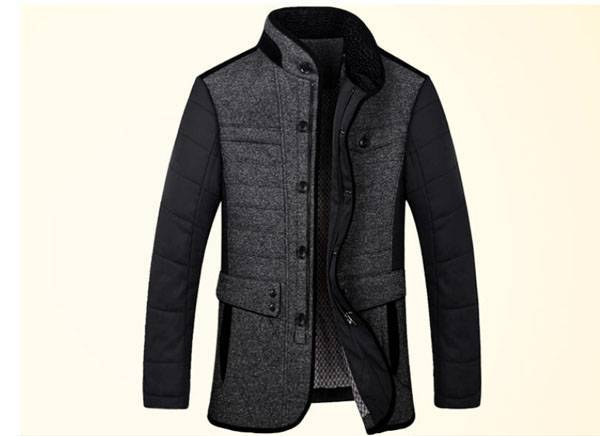 Middle aged font b men s b font business casual winter clothes roupas masculinas cotton padded