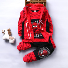 New Spiderman Baby Boys Clothing Sets Cotton Sport Suit For Boys Clothes Spring Spider Man Costumes Kids Clothes 3pcs set 2017 spring newborn baby boy clothes bow lie kids suit clothing sets 3pcs children bebe solid cloth outfit sport coats boys