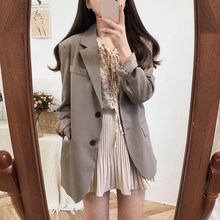 Elegant Solid Single Breasted Two Piece Set Women Long Sleeve Coat Suit Female Casual Blazer Office 2 Colors