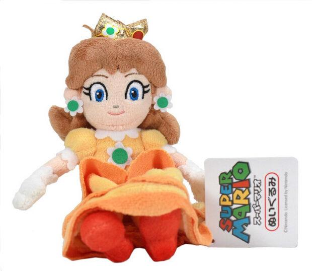 Super Mario Bros Mario Daisy Princess Plush Doll Figure Soft Toy 7inch Kids Gift