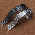 Fit samsung gear s3 clássico pulseira bandas de fosco e polido butterfly fivela prata preto faixa de relógio straps pulseira 22mm
