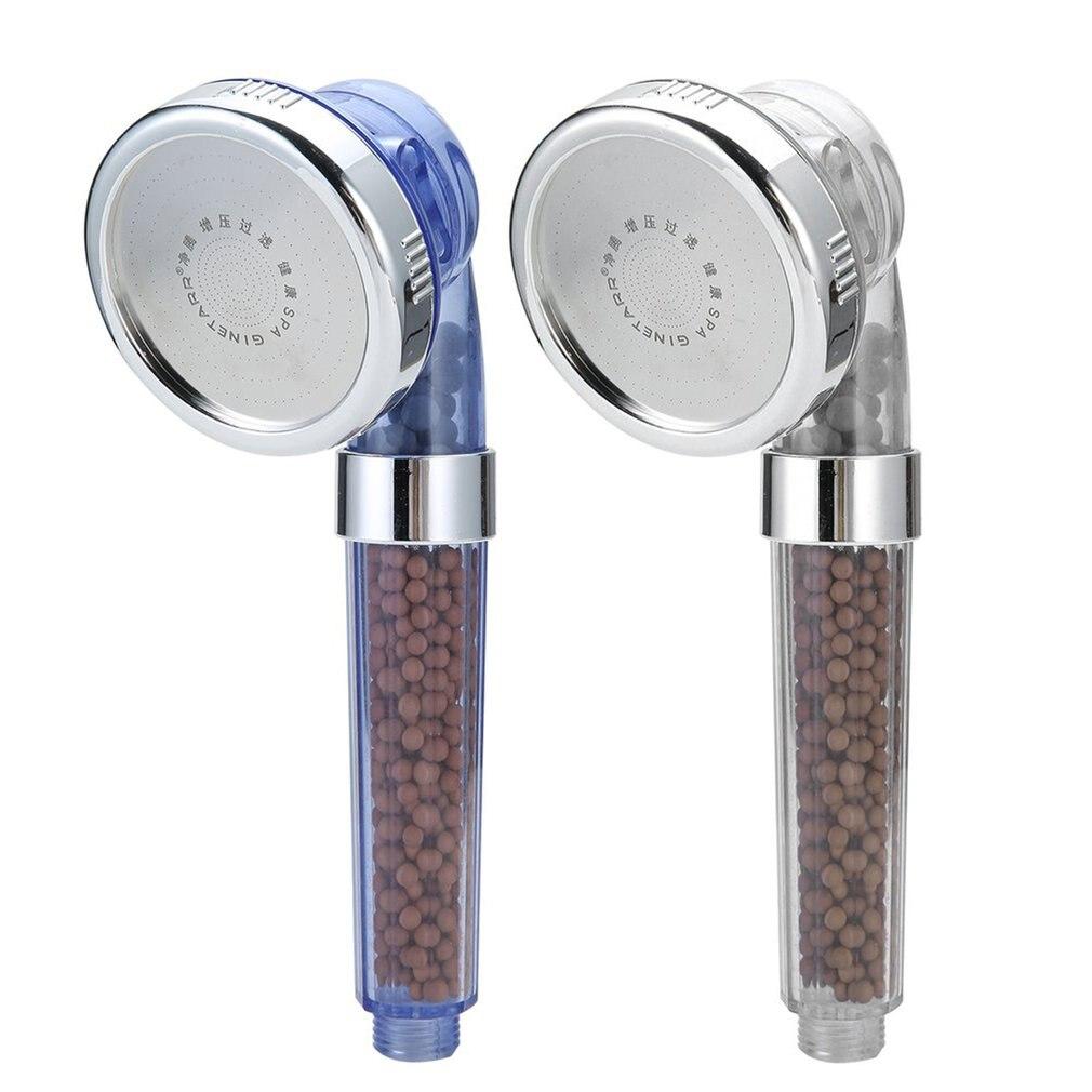 2018 gesunde Negative Ionen SPA Gefiltert Einstellbare Dusche Kopf mit Dusche Schlauch Drei Dusche Modus Negative Lon SPA Dusche Kopf