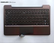 цена на US English  Laptop Keyboard For ASUS TF101 TF201 TF201T TF700T palmrest Upper cover Keyboard US Layout