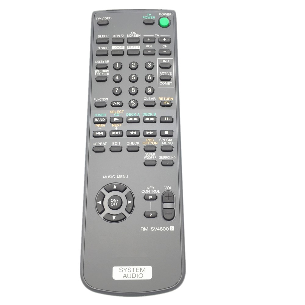 RM-SV4800 Use For Sony Compact HI-FI Stereo System AV Receiver Remote Control LBT-V4800R chunghop rm l7 multifunctional learning remote control silver