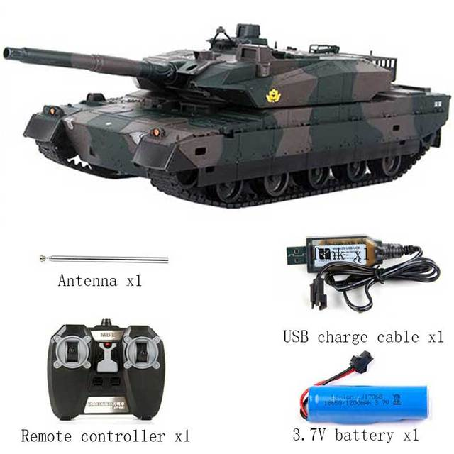 Rechargeable Remote Control Tank 40CM Camouflage RC Tank 1/20 9CH 27Mhz Infrared Electric Toys For Children Boys Birthday Gifts