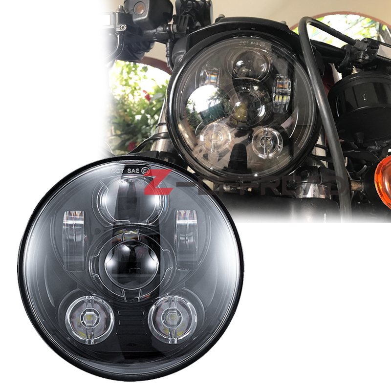 """For  light motorcycle 5 3/4 5.75"""" LED projector headlight Motorcycle Headlamp replacement for  2005 Sportster