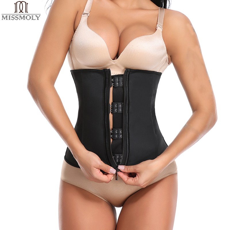 75e82070e6 Miss Moly Latex Body Shaper Girdle Waist Trainer Steel Boned Modeling Belt Tummy  Control Shapers Slimming Shapewear Cincher-in Waist Cinchers from Underwear  ...