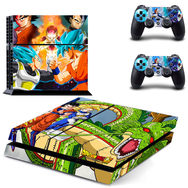Dragon Ball Vinyl For PS4 Sticker Skin For Playstation 4+ 2Pcs Controller Skin Console Stickers For PS4 Console Protective Skin 3
