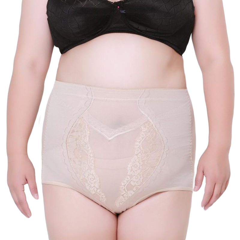 Lace Lingerie Control Tummy Panties Big Size Women Stretch -1784