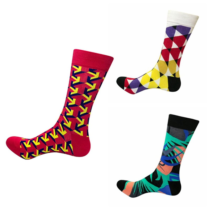 Underwear & Sleepwears Fast Deliver Combed Cotton Mens Socks Harajuku Colorful Happy Funny Fashion Long Warm Dress Socks For Male Wedding Birthday Gift Preventing Hairs From Graying And Helpful To Retain Complexion