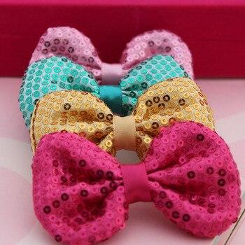 100PCS Diy double faced paillette bow tie hair accessory shoes accessories material