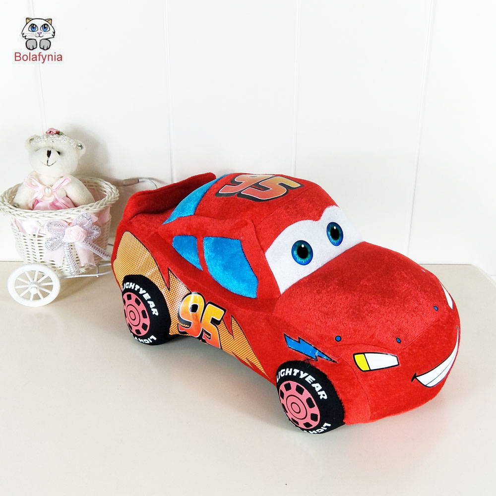 цена на BOLAFYNIA Shooting props plush toy Cars Lightning Toy kids doll stuffed baby toys birthday gift
