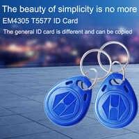 5 piezas EM4305 T5577 125 khz copia reescribible EM ID RFID etiquetas llaveros Porta Chave tarjeta pegatina llavero token Ring