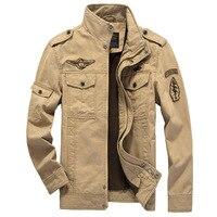 Tamanho grande M-XXXL 5XL 6XL homem Casuais jaquetas Do Exército Ao Ar Livre roupas de marca Dos Homens Khaki 3 cores inverno jaqueta Militar carga