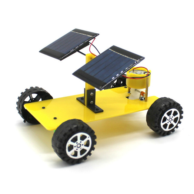 Dual Solar Panel Diy Mini Solar Powered Toy Car Assembly Science
