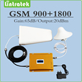 Dual Band Signal Booster 900Mhz 1800Mhz Cellphone amplifier GSM DCS Mobile Signal Repeater with LPDA/Ceiling Antenna and cable