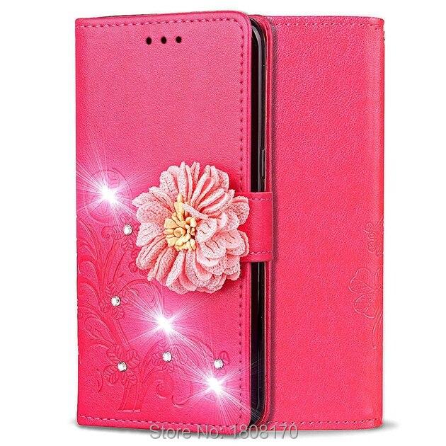 Redelijk Diamond Clover Bloem Flip Portemonnee Lederen Case Voor Huawei Y9 Spelen Mate10 Pro Sharp Shv40 Voor Lenovo Vibe C2 Lucky Cover 50 Stks