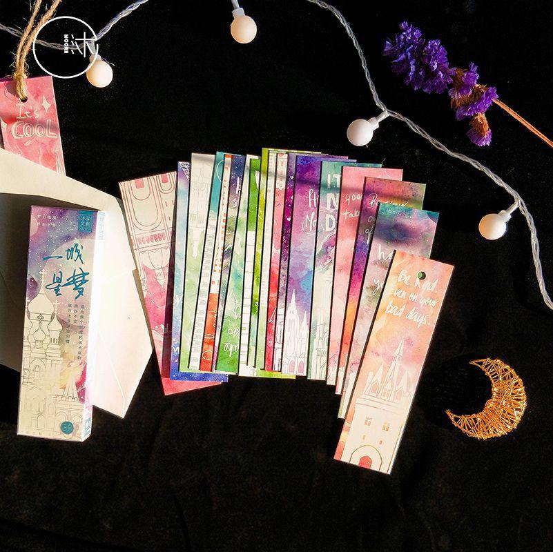 30 шт. винтажные закладки Романтический Starlight тематические картонные закладки для студентов офис