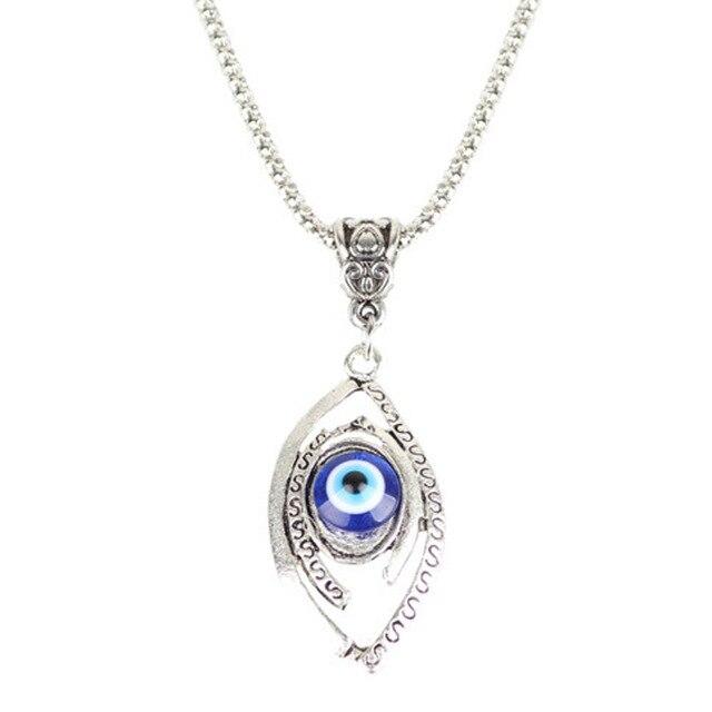 Kristal Mata Jahat Turki Kalung Untuk Pria Biru Mata Bulan Kalung Liontin Fashion Jewelry
