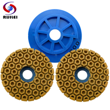 цена на 7Pcs/lot 125mm Snail Lock Edge Polishing Pad 5inch Edge grinding wheel marble polishing pad Grinding and Polishing Granite WFD24
