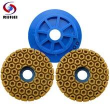 7Pcs/lot 125mm Snail Lock Edge Polishing Pad 5inch grinding wheel marble polishing pad Grinding and Granite WFD24