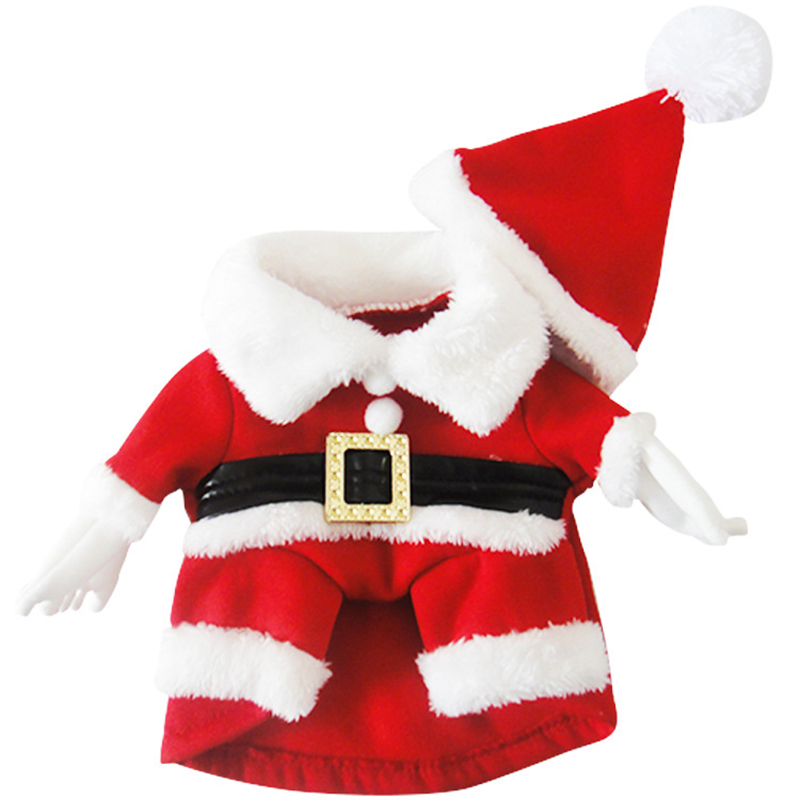 1d21be5ecb29 10pcs lot Christmas Santa Claus Dog Cat Dress Cotton Puppy Kittens ...