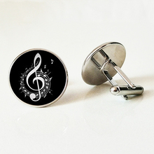 Brand Vintage musical note Cufflinks charm fancy music heart musician jewelry retro Christmas snowflake men gifts все цены