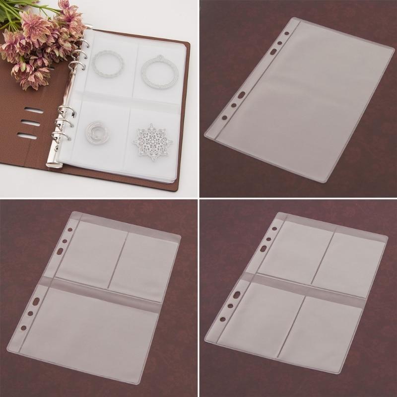 5 folhas diy scrapbooking corte, estêncil armazenamento livro coleção álbum capa